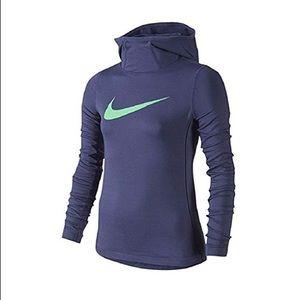 Nike Pro Hyperwarm Blue Hoodie Girls